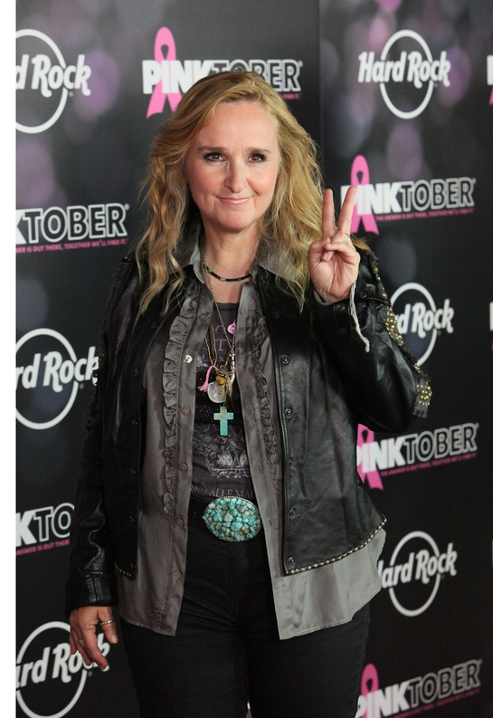 Melissa Etheridge, Hard Rock's PINKTOBER Artist Ambassador, poses on the pink carpet to launch the 2011 PINKTOBER breast cancer awareness campaign