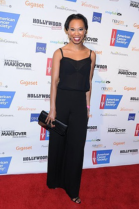 Nondumiso Tembe at Extreme Makeover Charity Event