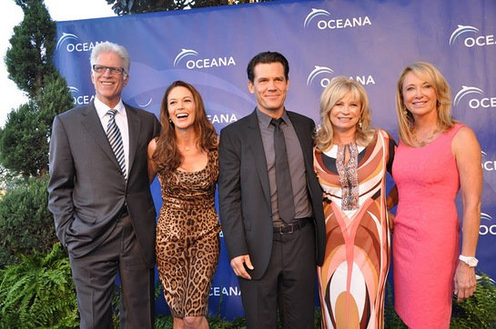 Ted Danson, Diane Lane, Josh Brolin at SeaChange Party