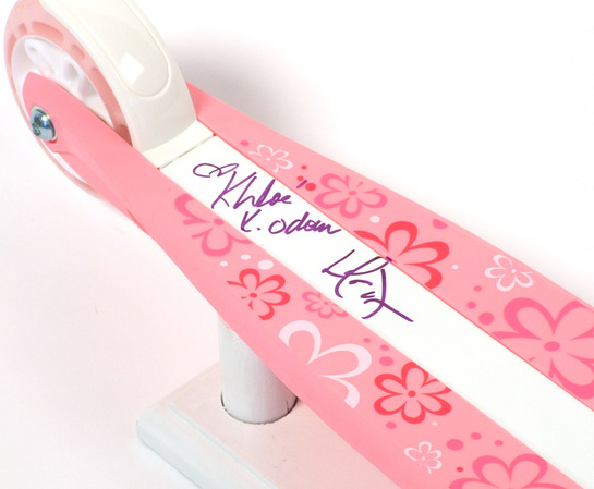 Khloe and Lamar Signed Scooter