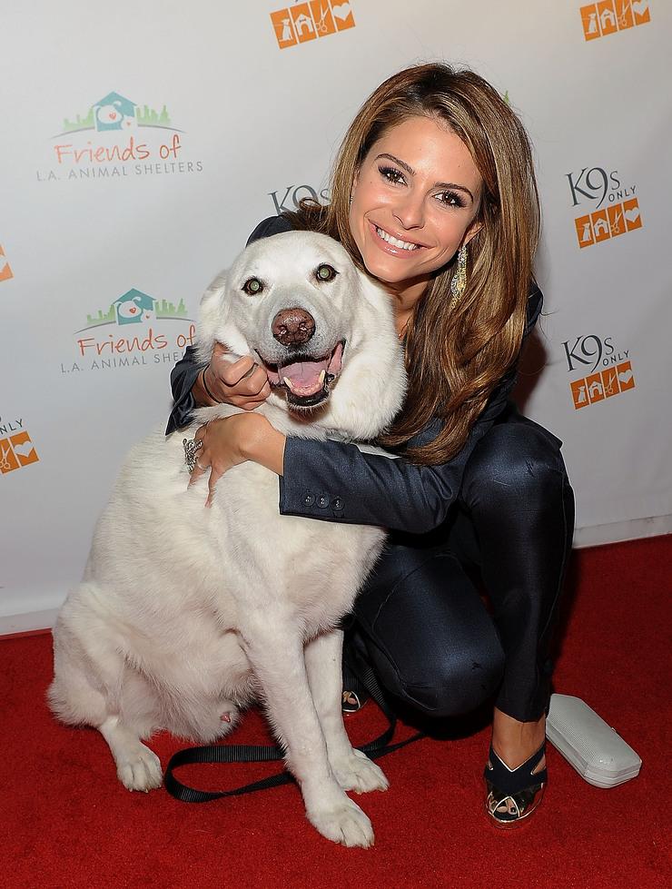 Maria Menousnos and her dog, Apollo
