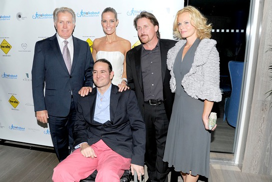 Martin Sheen, Carolina Gonzales-Bunster, Luis Gonzalez-Bunster, Emilio Estevez and Sonja Magdevski attend the after party for the premiere of The Way to benefit the Walkabout Foundation