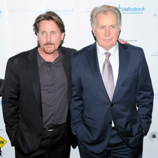 Martin Sheen and Emilio Estevez attend the after party for the premiere of The Way to benefit the Walkabout Foundation at the Imperial No. Nine at the Mondrian SoHo