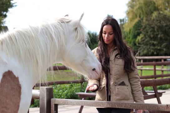 Leona Lewis at Hopefield Animal Sanctuary
