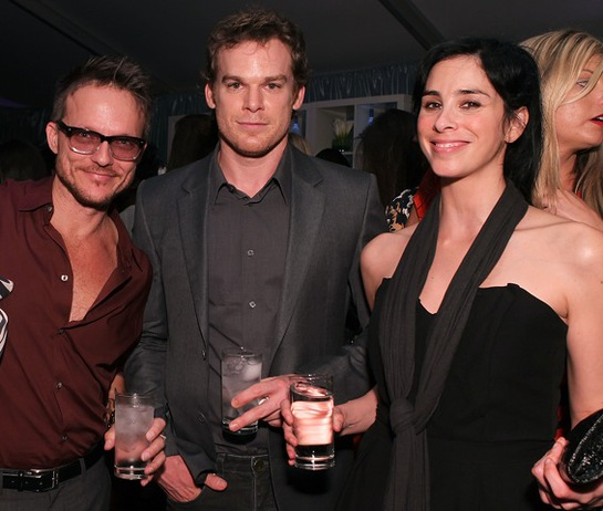 Randall Slavin, Michael C Hall and Sarah Silverman