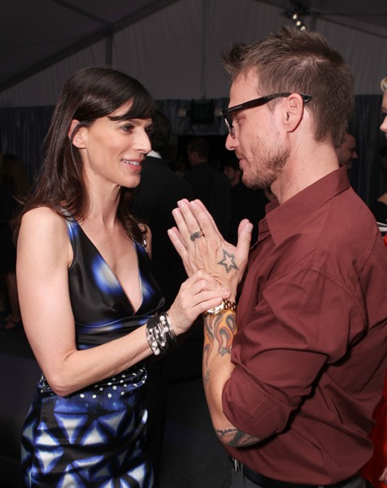Perrey Reeves and Randall Slavin