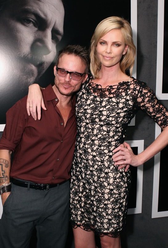 Randall Slavin and Charlize Theron at CTAO Event