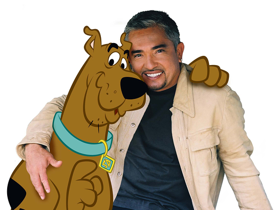 Cesar Millan and Scooby Doo