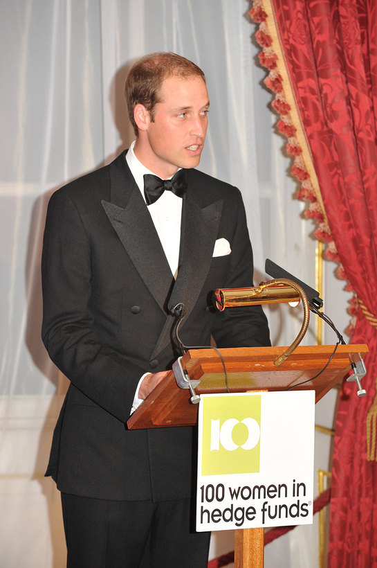 Prince William makes his speech at Child Bereavment Charity Event