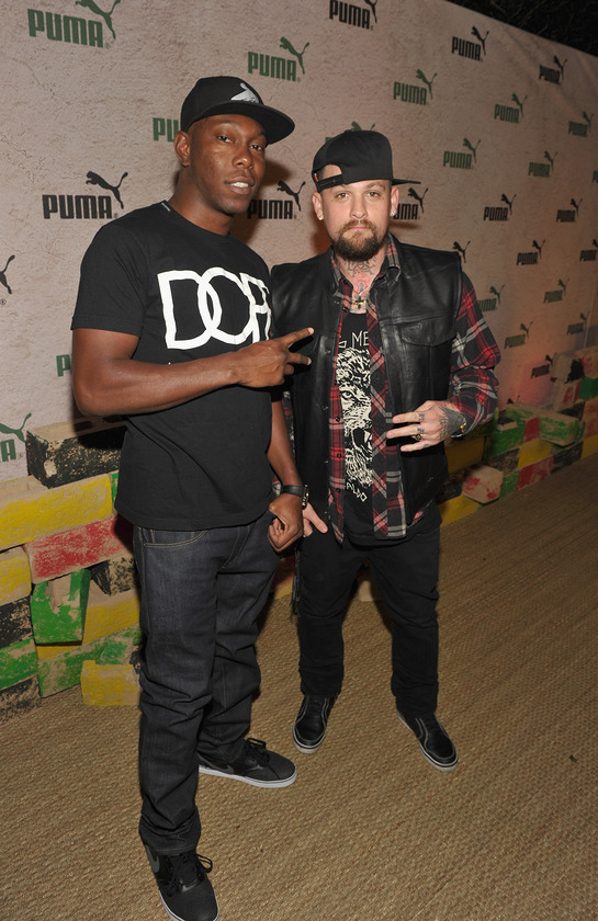 Dizzee Rascal and Benji Madden at PUMA Event