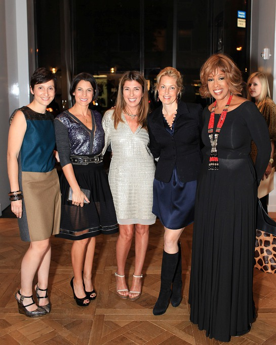 Delphine Krakoff, Jessica Seinfeld, Nina Garcia, Ali Wentworth and Gayle King at the Reed Krakoff Cocktail Event in Support of Baby Buggy