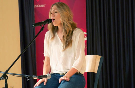 Colbie Caillat Performs at MusiCares Event