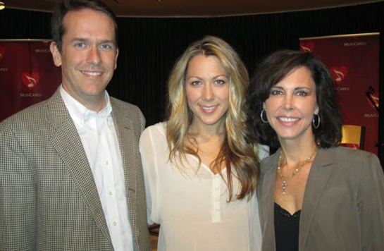 Vanderbilt University Medical Center's Rondal Richardson, Colbie Caillat and MusiCares' Debbie Carroll