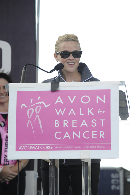 Avon Foundation for Women Honorary Chair Reese Witherspoon presents $9.1 million in grants to breast cancer programs at the Avon Walk for Breast Cancer. (Dimitrios Kambouris/Getty Images)