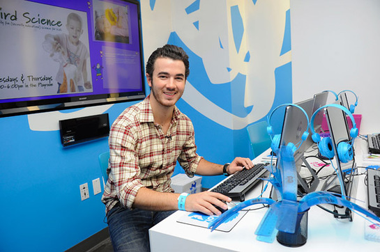 Kevin Jonas On The New Computers at Ronald McDonald House