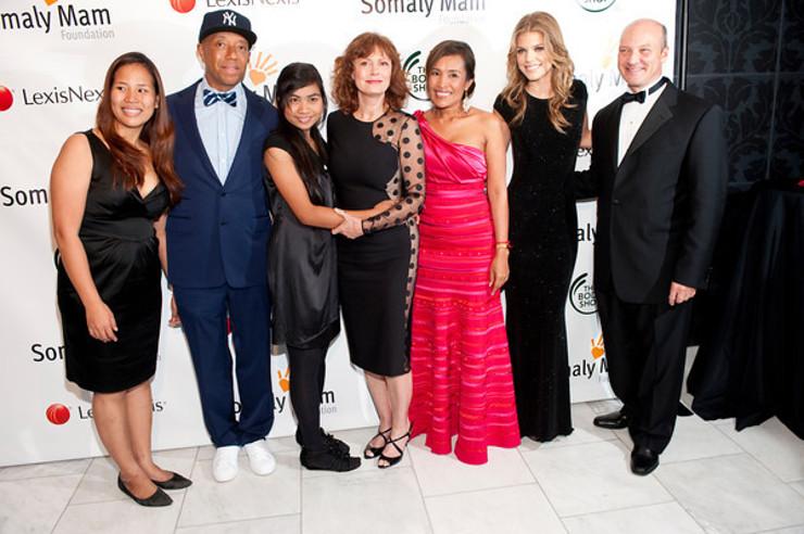 Russell Simmons, Susan Sarandon, Somaly Mam, Annalynne McCord, Phil Kowalczyk