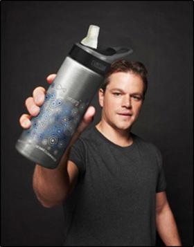 Matt Damon Water Bottles