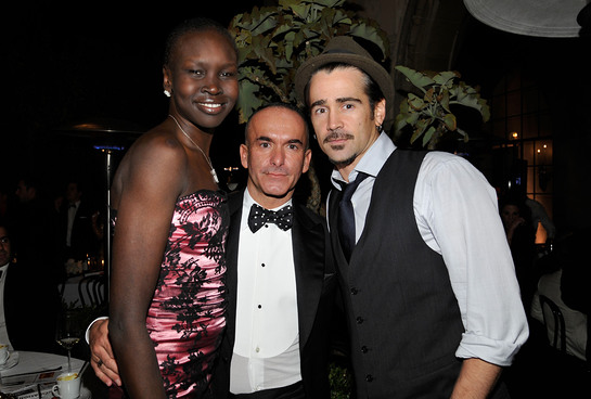 Alek Wek, Reca Group's Paolo Diacci and Colin Farrell