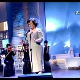 Susan Boyle wears the dress