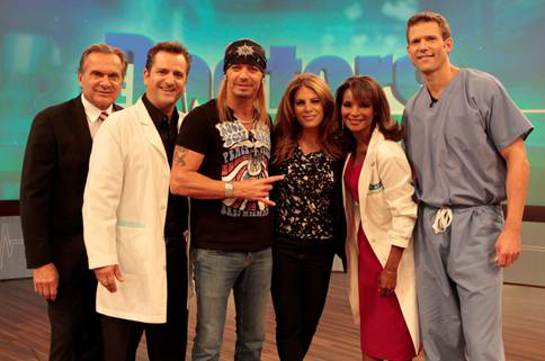 Dr. Andrew Ordon, Dr. Jim Sears, Bret Michaels, Jillian Michaels, Dr. Lisa Masterson and Dr. Travis Stork.