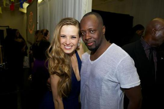 Petra Nemcova, Founder and Chairwoman, Happy Hearts Fund and evening performer Wyclef Jean