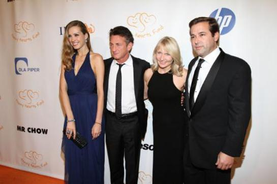Petra Nemcova, ; Sean Penn, Founder & CEO, J/P Haitian Relief Organization and Lifetime Achievement Honoree; Renee Haugerud, Founder & CIO, Galtere LTD. and Heart of Gold Honoree; Phillip Caputo, Executive Director, Happy Hearts Fund
