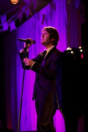 Josh Groban performs at Happy Hearts Fund Land of Dreams: Haiti gala