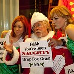 Bill Oddie Leads A Christmas Protest Over Foie Gras