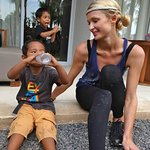 Paris Hilton Meets Orphans And Stray Dogs In Bali