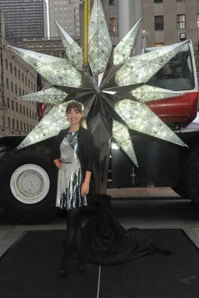 Olivia Wilde unveils the Swarovski Star for the 2011 Rockefeller Center Christmas Tree