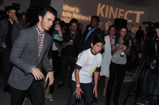 Kevin Jonas Plays X-Box