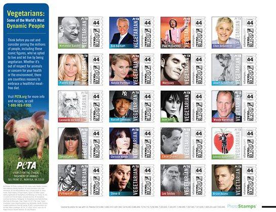 PETA Photo Stamps