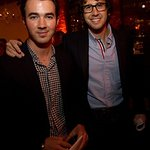 Kevin Jonas And Josh Groban Attend TJ Martell Foundation Wine Dinner