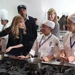 Ellen Pompeo Helps Foster Kids Cook Holiday Meal