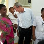 George W. Bush Announces Pink Ribbon Red Ribbon Partner Country