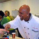 Montel Williams Cooks For Wounded Warriors At Military Medical Center