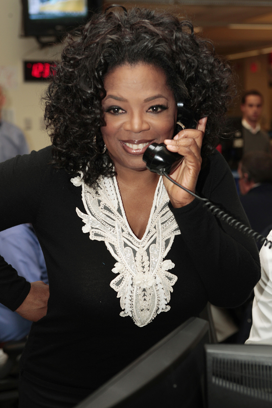Oprah at ICAP Charity Day