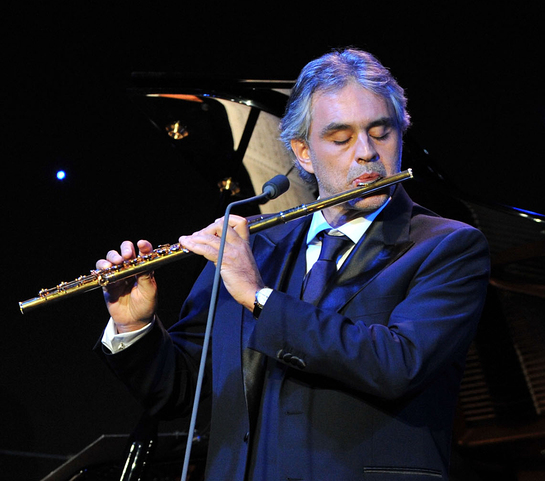Andrea Bocelli at Foundation Launch