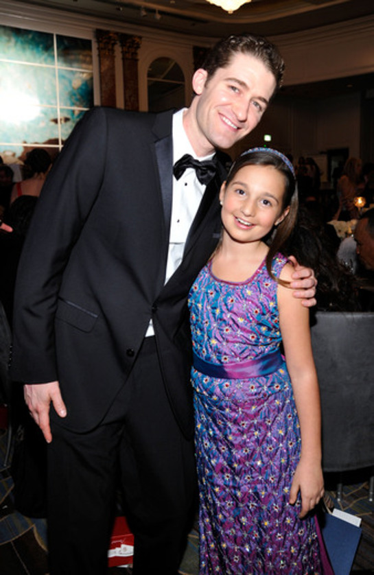Matthew Morrison with Emily Bear at UNICEF Ball