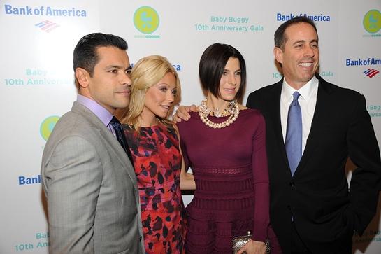 Mark Consuelos, Kelly Ripa, Jessica Seinfeld and Jerry Seinfeld