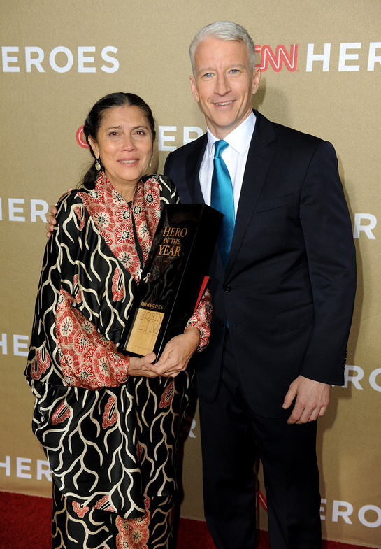 Anderson Cooper and Robin Lim