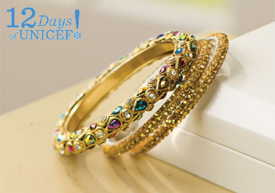 UNICEF Jeweled Bangles