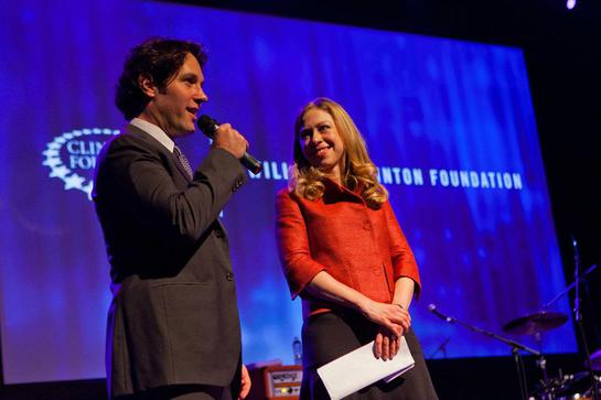 Paul Rudd and Chelsea Clinton