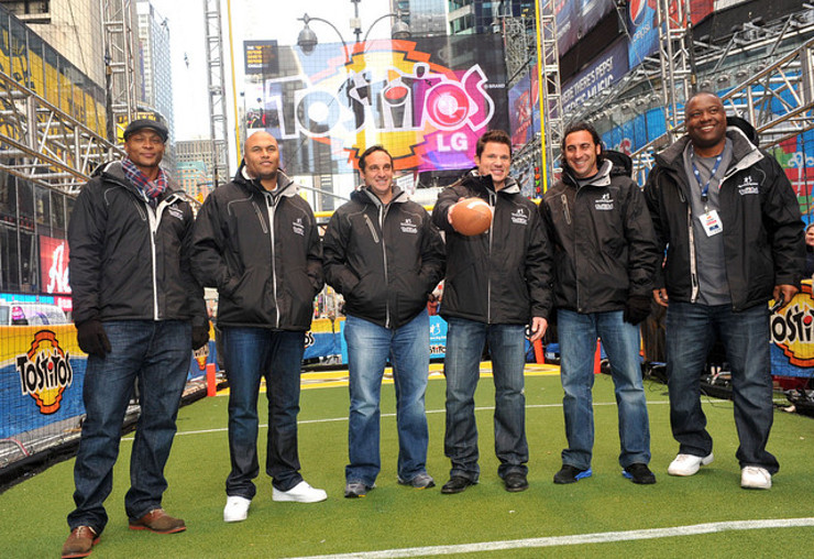 Nick Lachey and NFL Legends at Tostitos Fiesta in the Square