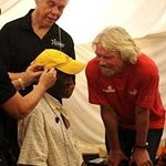 Richard Branson Helps Bring Hearing Aids To Africa