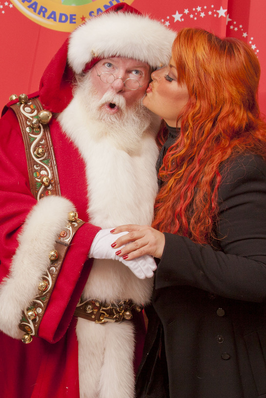 Wynonna Kisses Santa
