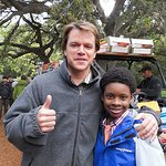 Matt Damon And Scarlett Johansson Meet Make-A-Wish Kids