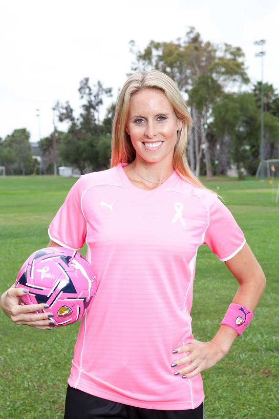 ltts exclusive  soccer star goes pink for breast cancer