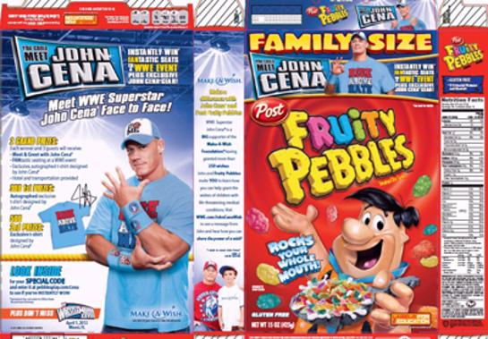 John Cena Cereal Box