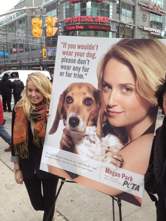 Megan Park Unveils PETA Ad